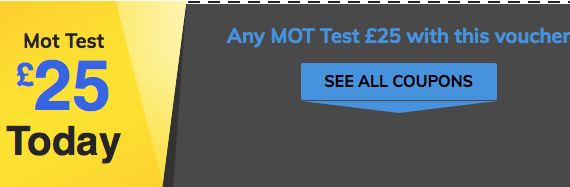 Mot test for £25.00